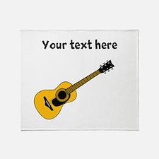 Customizable Guitar Throw Blanket