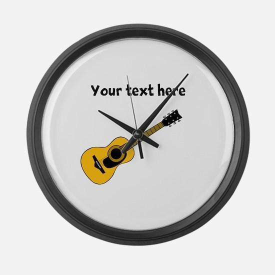 Customizable Guitar Large Wall Clock
