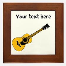 Customizable Guitar Framed Tile
