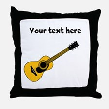 Customizable Guitar Throw Pillow