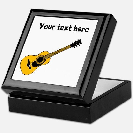 Customizable Guitar Keepsake Box