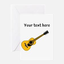 Customizable Guitar Greeting Card