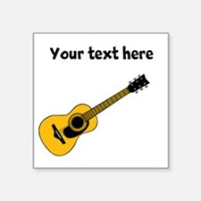 "Customizable Guitar Square Sticker 3"" x 3"""