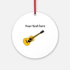 Customizable Guitar Ornament (Round)