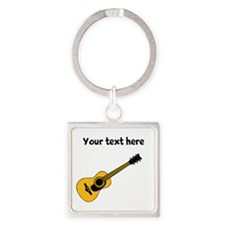 Customizable Guitar Square Keychain