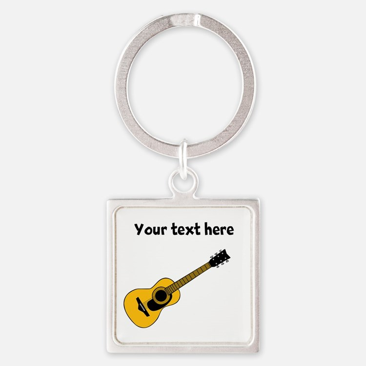 Customizable Guitar Square Keychain