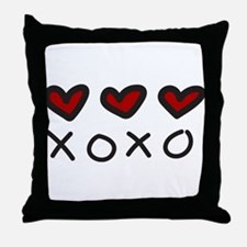 Hugs And Kisses Throw Pillow