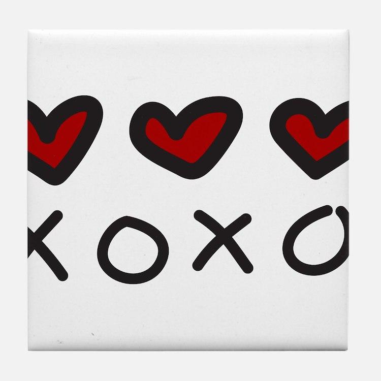 Hugs And Kisses Tile Coaster