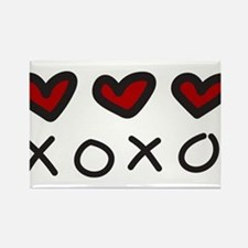 Hugs And Kisses Rectangle Magnet