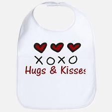 Hugs & Kisses Bib