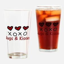 Hugs & Kisses Drinking Glass