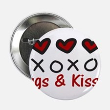 "Hugs & Kisses 2.25"" Button"