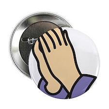 "Praying Hands 2.25"" Button"