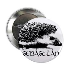 "Sebastian the Hedgehog 2.25"" Button (10 pack)"