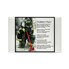 Old Version Firefighter Prayer Rectangle Magnet