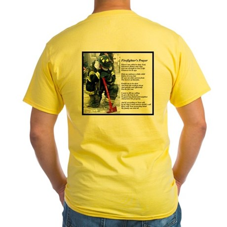 Old Version Firefighter Prayer Yellow T-Shirt