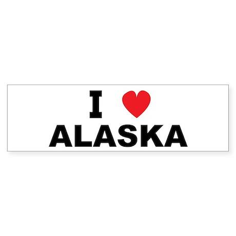 I Love Alaska Bumper Sticker