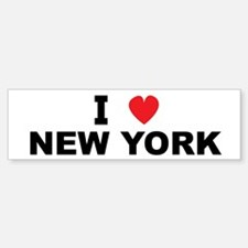 I Love New York Bumper Bumper Bumper Sticker