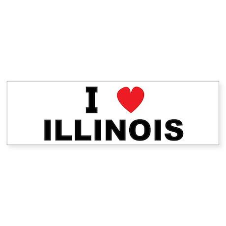 I Love Illinois Bumper Sticker