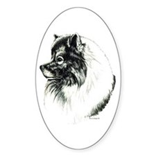 Keeshond Portrait Oval Decal