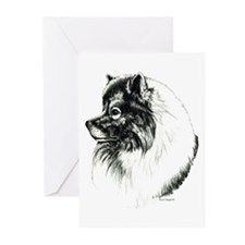 Keeshond Portrait Greeting Cards (Pk of 10)
