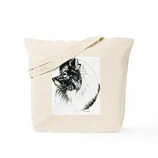 Keeshond Portrait Tote Bag