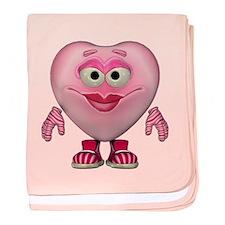 Cute Little Miss Pink Heart baby blanket