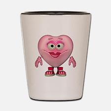 Cute Little Miss Pink Heart Shot Glass
