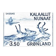 1981 Greenland Wild Reindeer Postage Stamp Postcar