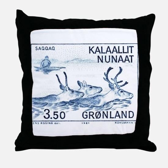 1981 Greenland Wild Reindeer Postage Stamp Throw P