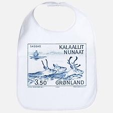 1981 Greenland Wild Reindeer Postage Stamp Bib
