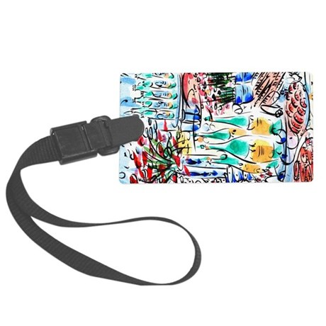 Large Luggage Tag: French Champagne