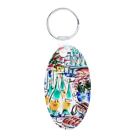 Aluminum Oval Keychain: French Champagne