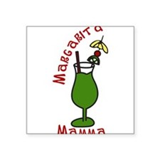"Margarita Mama Square Sticker 3"" x 3"""