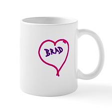 i love brad heart Mug