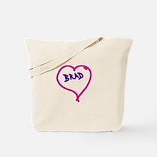 i love brad heart Tote Bag