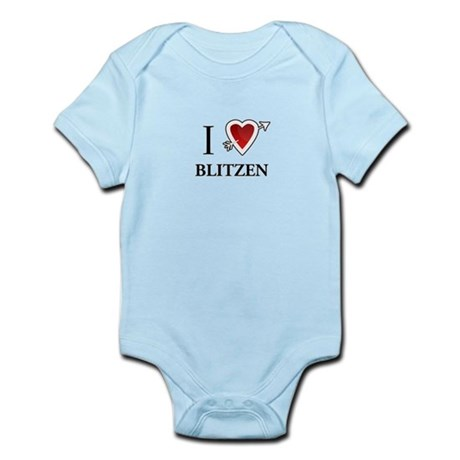 I LOVE Blitzen reindeer Santa CHRISTMAS Infant Bod