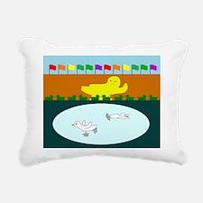 Duckefeller Center Rectangular Canvas Pillow