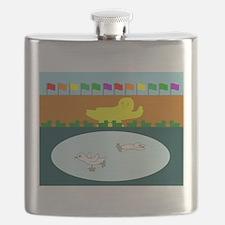 Duckefeller Center Flask