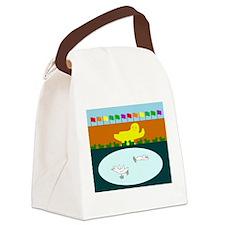 Duckefeller Center Canvas Lunch Bag