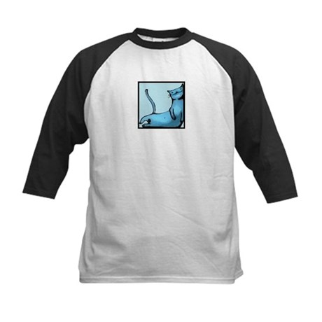 blue smiling cat design Kids Baseball Jersey