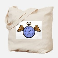 Time Flies (blue) Tote Bag