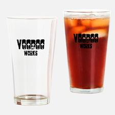 Voodoo works funny black magic tee Drinking Glass