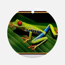 Exotic Tree Frog Ornament (Round)