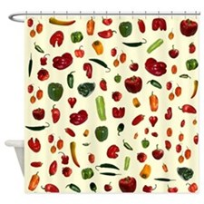 Chili Peppers Butter Shower Curtain