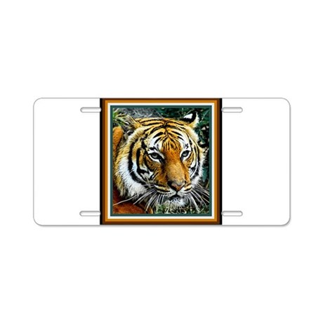 Eye of the Tiger. Aluminum License Plate