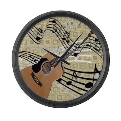 Abstract Guitar Large Wall Clock