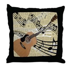 Abstract Guitar Throw Pillow
