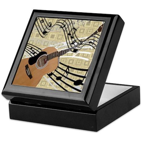 Abstract Guitar Keepsake Box