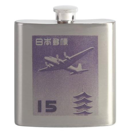 1962 Japan Airplane Over Pagoda Postage Stamp Flas